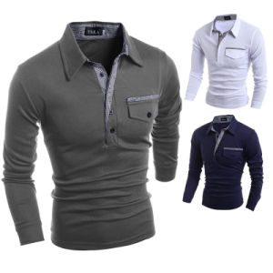 2017 Custom Mens Long Sleeve Polo Shirts (A403) pictures & photos