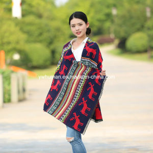 Fashion Pashmina Deer Winter Long Scarf for Lady pictures & photos