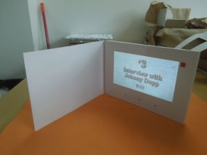 7inch White Card Video Brochure/Video Mailer pictures & photos