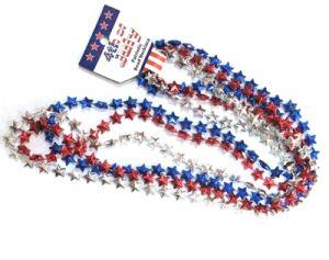 "33"" Patriotic Star Beads"