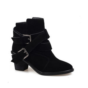 Lady Wedge Shoes with Neckline Warm Fur