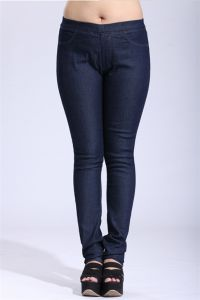 P1166 Plus Size Women Blue Jeggings with Elasticity pictures & photos