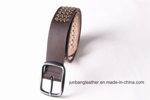 High Quality Man Jeans Leather Rivet Belt Stud Belt-Jbe1626 pictures & photos
