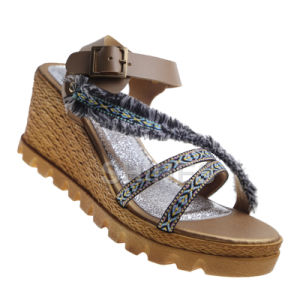 High Heel Fashion Sandal for Women with Braided Strap
