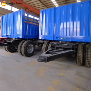 Factory Sale 3 Axles 2axles 20ton Faltbed Cargo Full Trailer pictures & photos