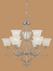 Hot Sale Chandelier with Glass Shade (1529SN)