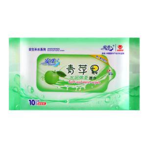 10 PCS Vitamin C Nutritious Super Soft Cotton Non-Woven Wet Wipe pictures & photos