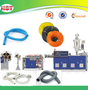 Single Screw Extruder PVC PE Single Wall Corrugated Pipe Machine pictures & photos