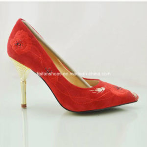 New Style Fashion Ladies Shoes High Heels Wedding Shoes (OLY16311-12) pictures & photos