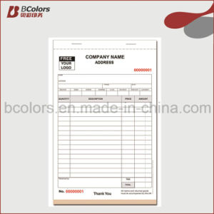 Receipt Books Printing Carbonless Business Forms Printing pictures & photos