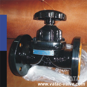 Cast Iron RF Flanged PTFE/FEP/PFA Lined Weir Diaphragm Valve pictures & photos
