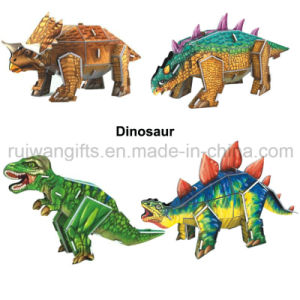 Wholesale Dinosaur Paper 3D Puzzle Kids Toy for Promotional pictures & photos