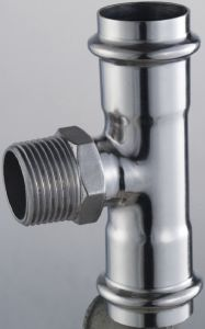 Dn50*2, Od48.6mm SUS304 GB/JIS Male Tee / Male T-Coupling