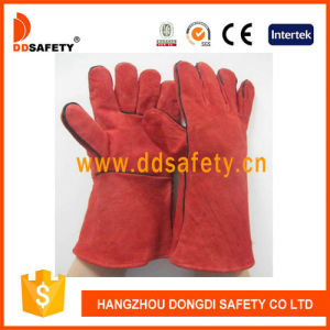 Red Cow Split Welder Safety Gloves Dlw615 pictures & photos