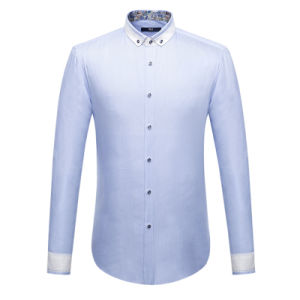 Customize Fashion Style Men′s Cotton Casual Dress Shirt pictures & photos