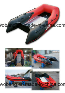 PVC/Hypalon Inflatable Belly Boat with Aluminium Floor Made in Weihai pictures & photos