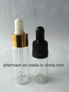 3ml 5ml Clear Amber Glass Vials with Glass Dropper Aluminium Cap pictures & photos