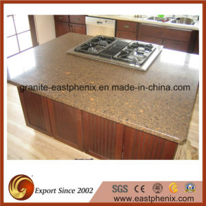 Top Quality Golden Quartz Stone Kitchen Countertop pictures & photos
