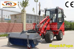 Perkins Engine Mini Loader (HQ908) with Road Sweeper pictures & photos