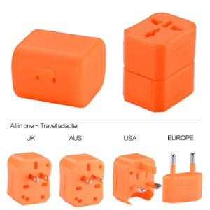 USA/UK/EUR/Aus Plug Universal Travel Adapter, Ce/FCC/RoHS Mark