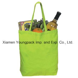 Promotional Reusable Green Economy Cotton Canvas Tote Grocery Bag pictures & photos