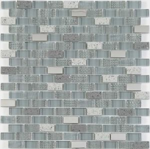Latest New Decorative Wall Glass Tile Crystal and Stone Mosaic pictures & photos