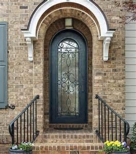 Hand Forged Round Top Double Wrought Iron Doors (UID-S047) pictures & photos