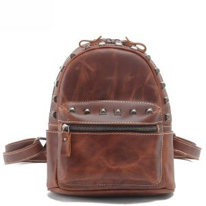 Designer Fashion Cowhide Leather Girl Backpack (RS-5006B) pictures & photos
