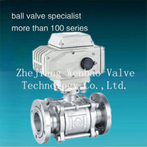 Gud Flanged Type Electric Actuator Vacuum Ball Valve pictures & photos