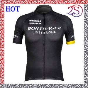 Custom Black Design Full Zip Digital Printing Cycling Jersey pictures & photos