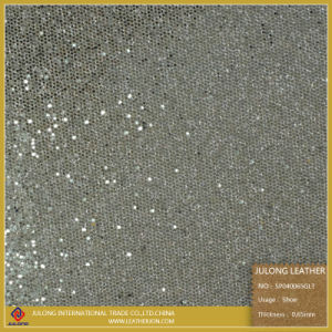 High Quality Glitter Shoe Leather & Glitter Lace & Upholstery Leather (SP040) pictures & photos