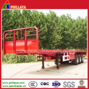 Head Board 3 Axle Container Transport 40FT Flatbed Trailer pictures & photos