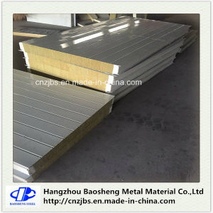 Material Rock Wool Color Steel Sandwich Panel pictures & photos