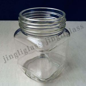 Square Shaped Glass Jar for Food Packing pictures & photos