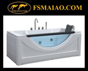 Fashional Acrylic Massage Bathtub with Glass (BA-8606) pictures & photos
