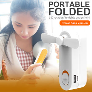 Creative Design USB Mini Fan with Power Bank pictures & photos