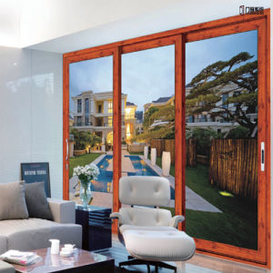 American Style Glass Aluminum Wood Door pictures & photos