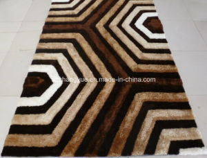 High Quality Polyester Modern Shaggy Rugs with 3D Effects pictures & photos