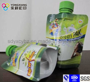 Green Plastic Stand up Pouch with Spout pictures & photos