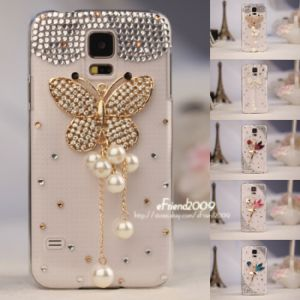 Crystal Handmade Lady′s Rhinestone Cover Case for Samsung Galaxy S5 I9600 Phone