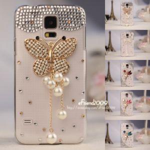 Crystal Handmade Lady′s Rhinestone Cover Case for Samsung Galaxy S5 I9600 Phone
