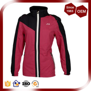 Women Waterproof Breathable Nylon Outdoor Rain Jacket pictures & photos