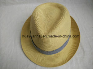 100% Polyester Leisurely Style with Natural Color Fedora Hats