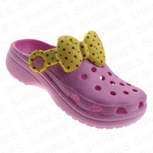 Pink EVA Garden Shoes with Bowknot for Children pictures & photos