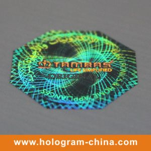 Green Color 3D Laser Holographic Stickers pictures & photos