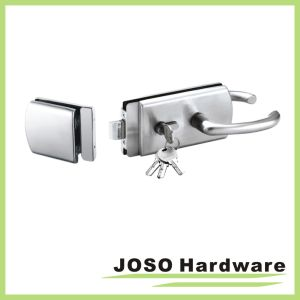 Door Latch Glass Door with D-Shaped Plate Lock Keeps (GDL013B) pictures & photos