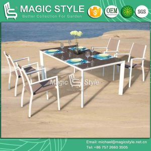 Textile Dining Set Dining Set Sling Dining Set Garden Furniture Stackable Chair New Design Sling Chair pictures & photos