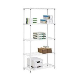 Office Storage Furniture 5 Tiers White Coated Adjustable DIY Metal Book Rack pictures & photos