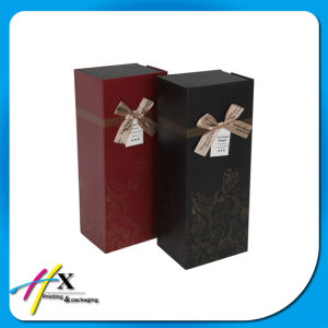 Accept Custom Rectangle Bowknot Paper Wine Bottle Packaging Gift Box pictures & photos