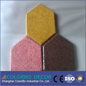 Ceiling Hexagonal Wood Wool Acoustic Panel pictures & photos